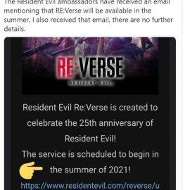 Resident Evil RE:Verse posticipato