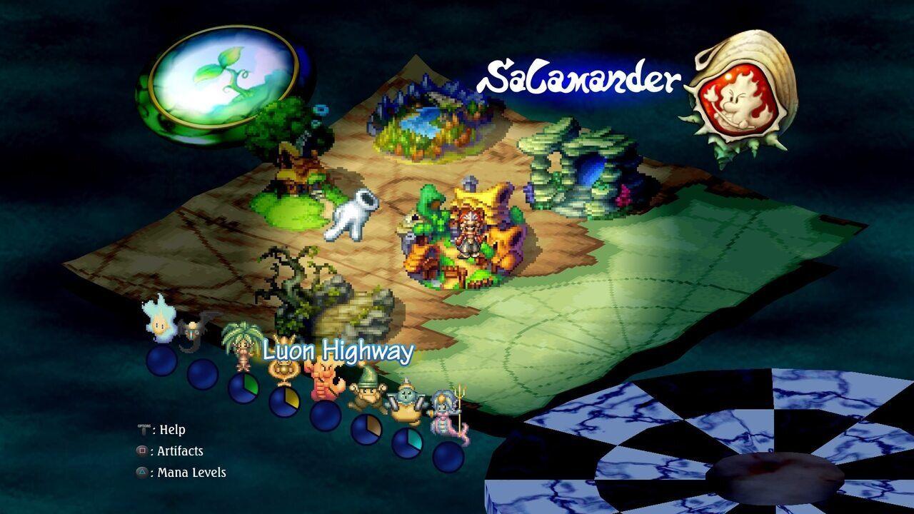 Legend of Mana Remaster map